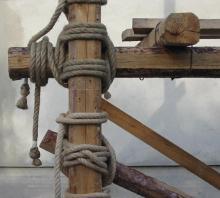 ponteggio in corda di canapa