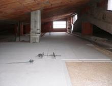 Isolamento di sottotetto in Natural Beton® 300 di canapa e calce